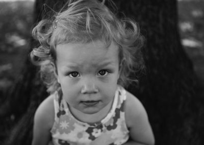 Black and White Child's Portrait